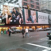 GUESS Billboard - Times Square, New York