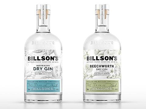 Billson's BreweryGin packaging