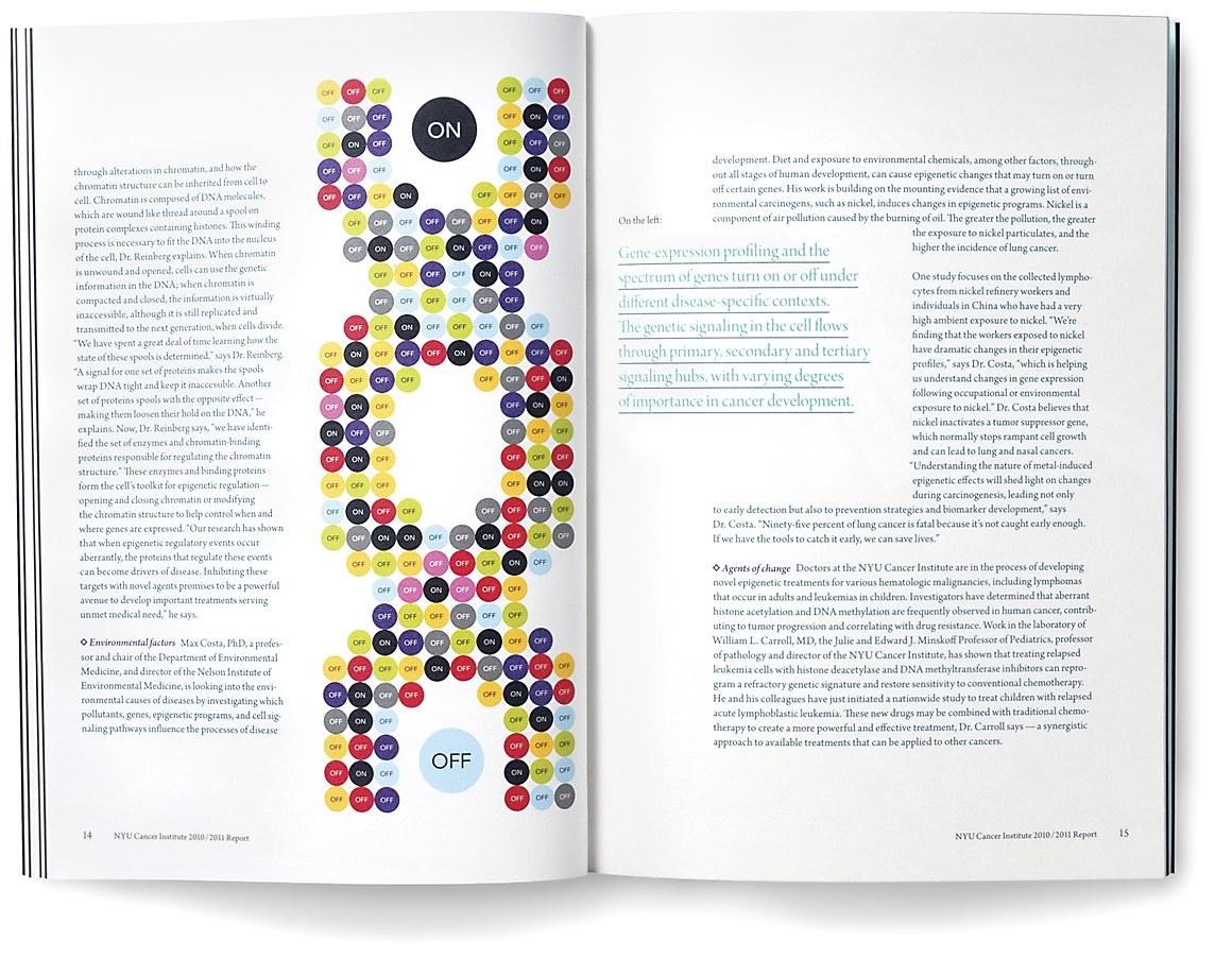 NYU Cancer Institute annual report   Communication Arts